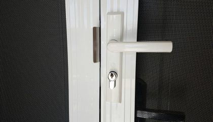 white-security-door-lock